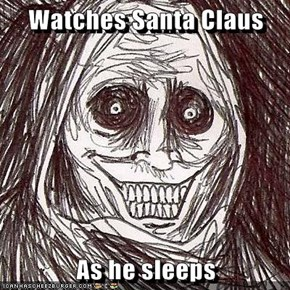 Watches Santa Claus  As he sleeps