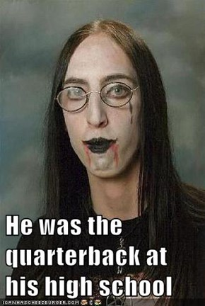 He was the quarterback at his high school