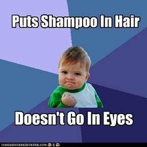 Puts Shampoo In Hair