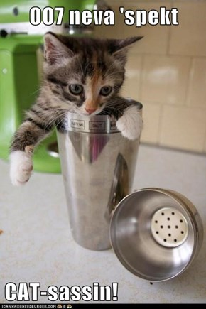 OO7 neva 'spekt  CAT-sassin!
