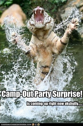 Camp-Out Party Surprise!