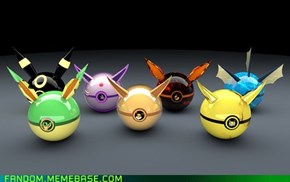 A Pokeball for Every Eeveelution