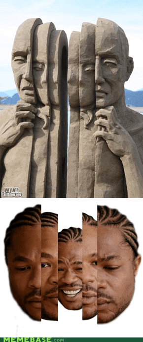 Yo Dawg, I Herd You Like Sand Sculptures...