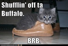Shufflin' off ta Buffalo.  BRB.