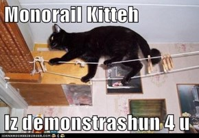 Monorail Kitteh  Iz demonstrashun 4 u