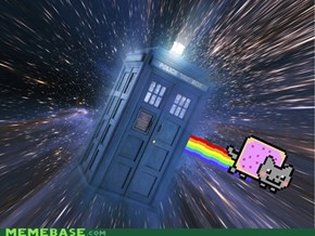 The TARDIS Nyaned.