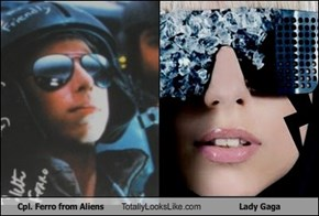 Cpl. Ferro from Aliens Totally Looks Like Lady Gaga