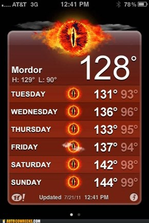 One Does Not Simply Wear Sunscreen in Mordor