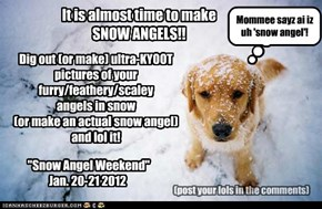 CALLING ALL SNOW ANGELS!