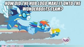 How did the Hub logo get to be a Wonderbolt?