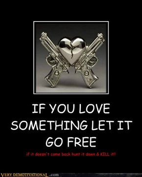 IF YOU LOVE SOMETHING LET IT GO FREE