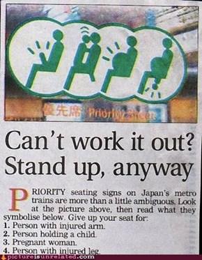 Priority Seats for Boners