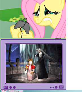 Fluttershy plays Final Fantasy VII