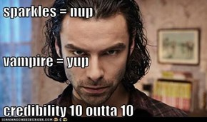 sparkles = nup vampire = yup credibility 10 outta 10
