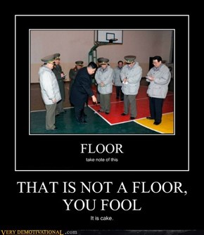 THAT IS NOT A FLOOR, YOU FOOL