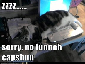 ZZZZ......  sorry, no funneh capshun