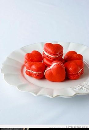 valentines macarons