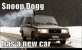 Snoop Dogg  has a new car