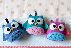 Happy Owl Key Chains