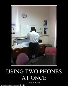 USING TWO PHONES AT ONCE
