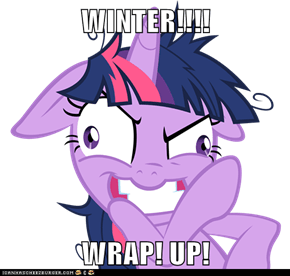 WINTER!!!!  WRAP! UP!