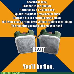 Battlefield 3 logic.