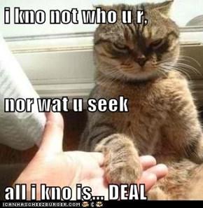 i kno not who u r,  nor wat u seek all i kno is... DEAL