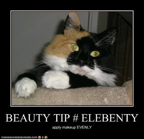 BEAUTY TIP # ELEBENTY