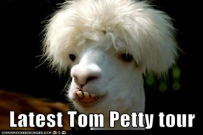 Latest Tom Petty tour