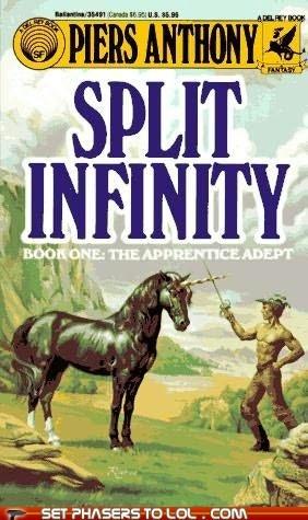 WTF Sci-Fi Book covers: Split Infinity