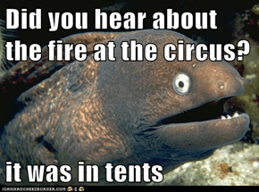 Did you hear about the fire at the circus?  it was in tents