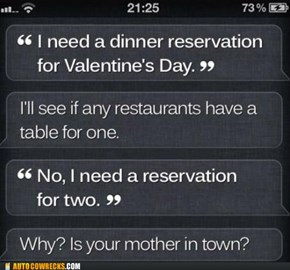 Siri Is My Dinner Date Tonight