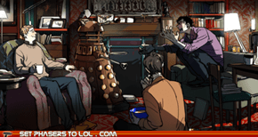 Sherlock arguing with a Dalek?!