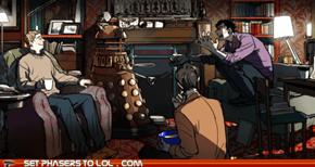 Sherlock arguing with a Dalek?!