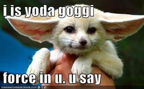 i is yoda goggi  force in u. u say