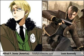 Alfred F. Jones (America) Totally Looks Like Leon Kennedy
