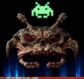 Real Life Space Invader
