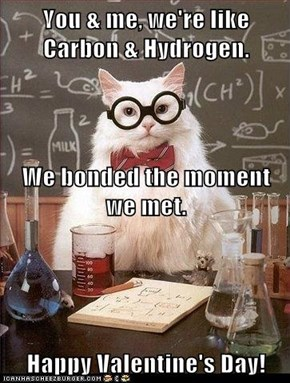 You & me, we're like Carbon & Hydrogen. We bonded the moment we met.  Happy Valentine's Day!