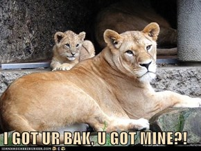 I GOT UR BAK, U GOT MINE?!