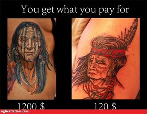 This is why you don't go for the discount tattoo parlor