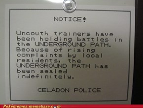 Don't You Know? Trainers Don't Read Notices