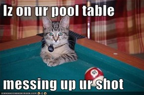 Iz on ur pool table  messing up ur shot