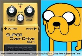 Super OverDrive SD-1 (Dawsons Music) Totally Looks Like Jake from Adventure Time