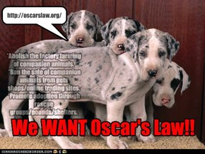 We WANT Oscar's Law!!