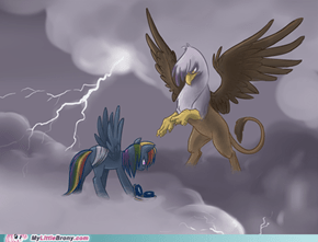 Gilda and Dash fight