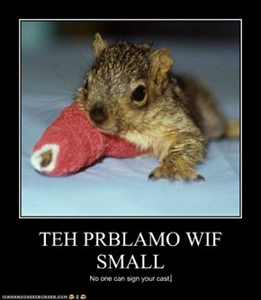 TEH PRBLAMO WIF SMALL