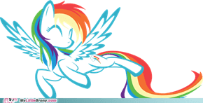 Rainbow Dash (vector drawing 3)
