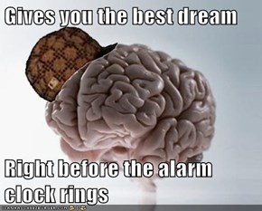 Gives you the best dream  Right before the alarm clock rings