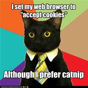 Business Cat: Browsing the Internet, Johnson?  Sounds Like You Have Time for More Work!