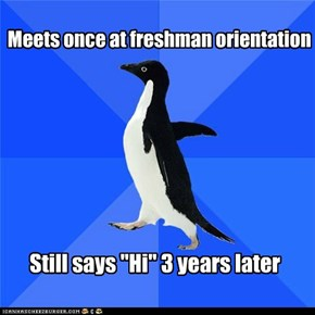 Socially Awkward Penguin: It Has to Stop at Some Point... Right?